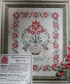 "Комплект нитей для Jeannette Douglas Designs ""Blooming Bouquets # 3 Joyful -Coral Colourway"""