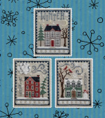 "Схема для вышивки Waxing Moon Designs ""Winter House Trio"""
