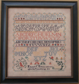 "Схема для вышивки Queenstown Sampler Designs ""Elizabeth Borton 1834"""
