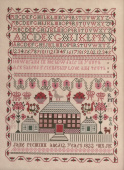 "Схема для вышивки Queenstown Sampler Designs ""Jane McMinn 1822"""