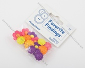 "Пуговицы Button Fashion (Favorite Findings 53) ""Flower Power"""