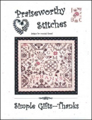"Схема для вышивания Praiseworthy Stitches ""Simple Gifts: Thanks"""