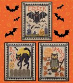 "Схема для вышивки Waxing Moon Designs ""Halloween Critter Trio"""