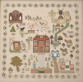 "Схема для вышивки Queenstown Sampler Designs ""Susanna Spier 1827"""