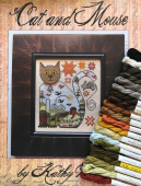 "Комплект нитей Needlepoint Silk для Kathy Barrick ""Cat and Mouse"""