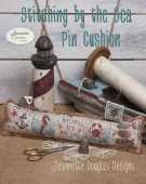 "Схема для вышивания Jeannette Douglas Designs ""Stitching by the Sea Pincushion"""