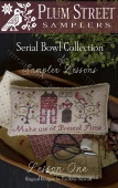 "Схема для вышивания Plum Street Samplers Serial Bowl Collection ""Lesson One"""