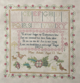 "Схема для вышивки Queenstown Sampler Designs ""Mary Adwick 1804"""