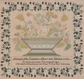 "Схема для вышивки Queenstown Sampler Designs ""Margaret Ann Klinedienst 1830"""