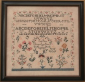 "Схема для вышивки Queenstown Sampler Designs ""Lydia Borton 1819"""