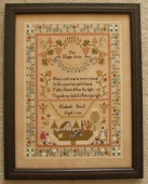 "Схема для вышивки Queenstown Sampler Designs ""Elizabeth Powell 1819"""