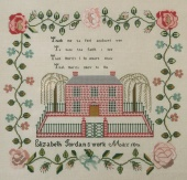 "Схема для вышивки Queenstown Sampler Designs ""Elizabeth Jordan c1841"""