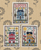 "Схема для вышивки Waxing Moon Designs ""Summer House Trio"""
