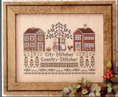 "Схема для вышивки Little House Needleworks ""City Stitcher, Country Stitcher"""