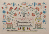 "Схема для вышивки Queenstown Sampler Designs ""Sarah Comly 1825"""