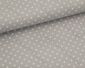 Канва 20 ct. Aida extra fine Petit Point 3326/7349 (серый в белый горошек) Gray/white dots