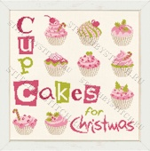 "Схема для вышивания Lilipoints ""Cupcakes for Christmas"" Version 1, 2"