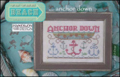 "Схема для вышивки Hands On Design ""To The Beach Series: Anchor Down"""