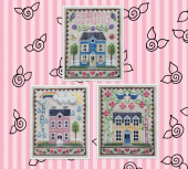 "Схема для вышивки Waxing Moon Designs ""Spring House Trio"""