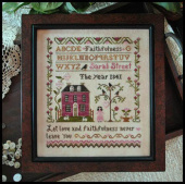 "Схема для вышивки Little House Needleworks ""Sarah Street - Faithfulness"""