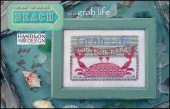 "Схема для вышивки Hands On Design ""To The Beach Series: Grab Life"""