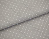Канва 18 ct. Fein-Aida Petit Point 3793/7349 (серый в белый горошек) Gray/white dots