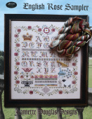 "Комплект нитей для Jeannette Douglas Designs ""English Rose Sampler"""