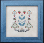 "Схема для вышивки Queenstown Sampler Designs ""Dinah Allen 1824"""