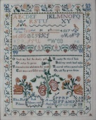 "Схема для вышивки Queenstown Sampler Designs ""Ruth Passmore 1804"""