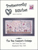 "Схема для вышивания Praiseworthy Stitches ""The Bee Keeper's Cottage"""