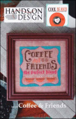 "Схема для вышивки Hands On Design ""Cool Beans: Coffee & Friends"""