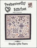 "Схема для вышивания Praiseworthy Stitches ""Simple Gifts: Peace"""