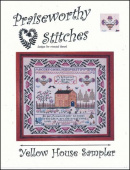 "Схема для вышивания Praiseworthy Stitches ""Yellow House Sampler"""