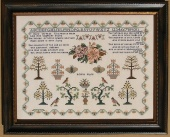 "Схема для вышивки Queenstown Sampler Designs ""Rosina Payne c. 1834"""