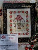"Комплект нитей для Jeannette Douglas Designs ""Blooming Bouquets # 3 Joyful -Red Colourway"""