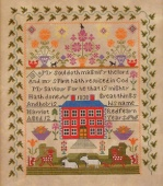 "Схема для вышивки Queenstown Sampler Designs ""Harriot Redfearn 1830"""