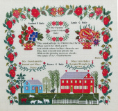 "Схема для вышивки Queenstown Sampler Designs ""Mary Ann Baily 1842"""