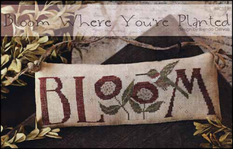 "Схема для вышивки With Thy Needle & Thread ""Bloom Where You're Planted"""