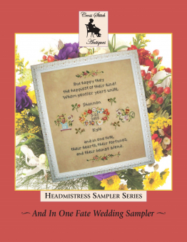 "Схема для вышивания Cross Stitch Antiques ""And In One Fate Wedding Sampler"""